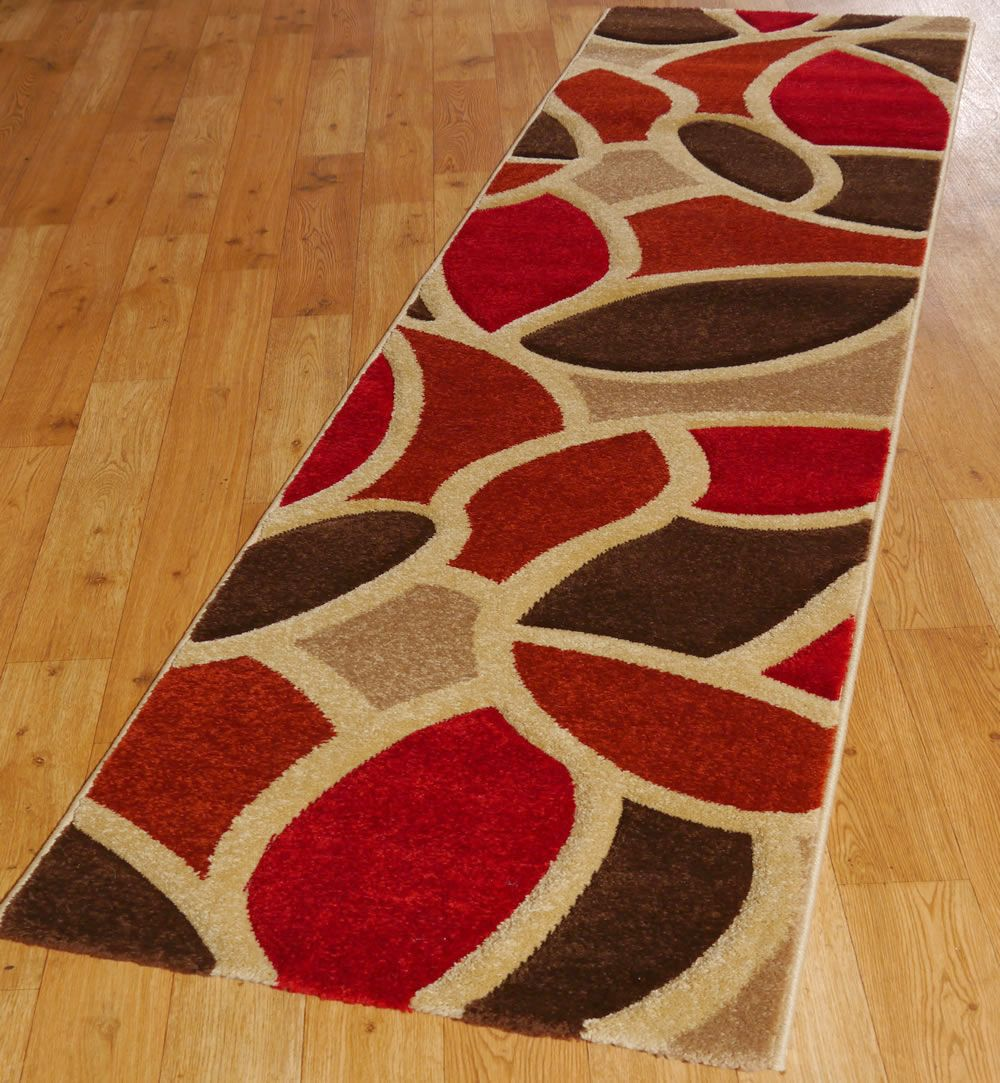 First impressions, try using accent colours in your hall runners. : A Very Strange Combination